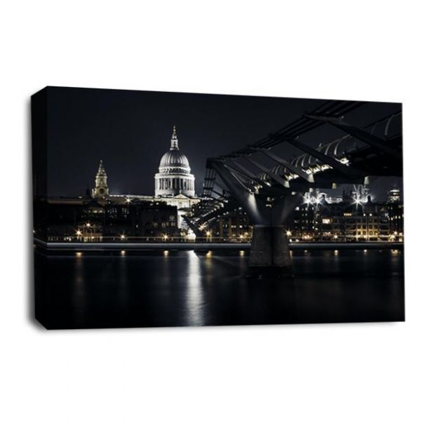 St Pauls London Canvas Wall Art Print City Bridge Picture